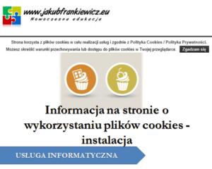 Instalacja dodatku informującego o wykorzystywaniu plików cookies