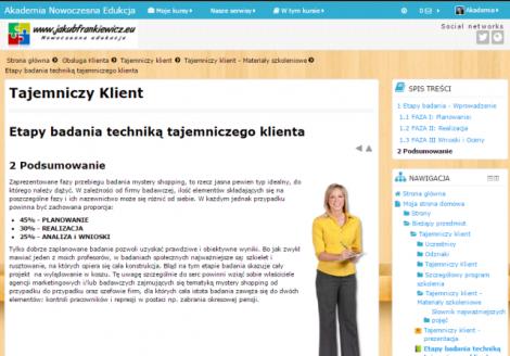 Tajemniczy Klient. Szkolenie praktyczne (E-learning)