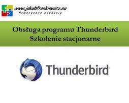 Obsługa programu Thunderbird - Szkolenie stacjonarne