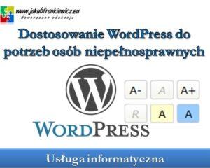 Dostosowanie WordPress do potrzeb osób niepełnosprawnych