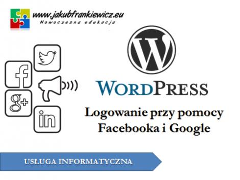 WordPress: Logowanie oraz komentowanie przy pomocy Facebooka i Google
