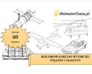 Kolorowanki do wydruku: Maszyny i pojazdy